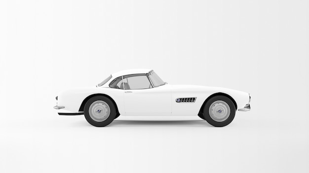Weißes auto isoliert
