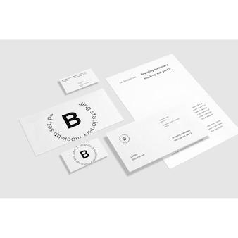 Weißes geschäft briefpapier mock up