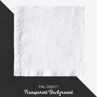 Weißes leinentaschentuch auf transparentem hintergrund