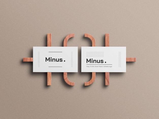 Weißes minimales visitenkartenmodell