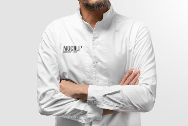 Weißes sauberes hemdmodell