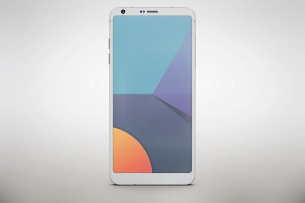 Weißes smartphone verspotten sich