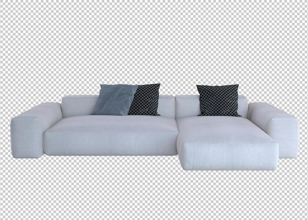 Weißes sofa 3d-rendering