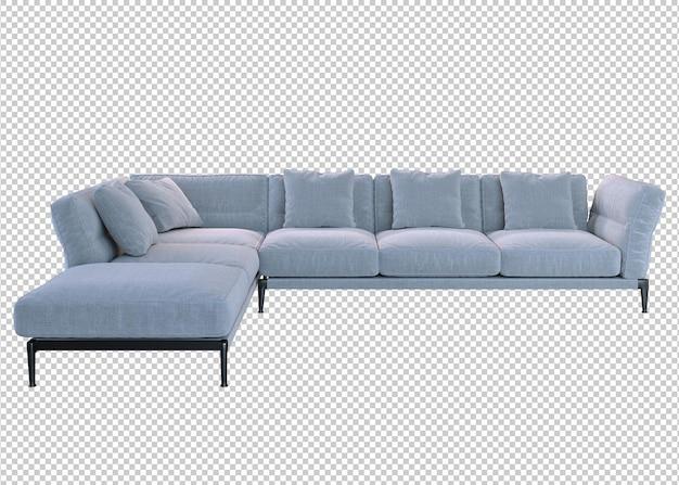 Weißes sofa und kissen