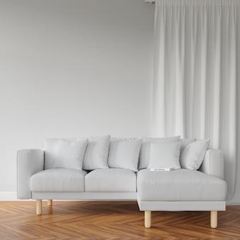 Weißes sofa und tisch