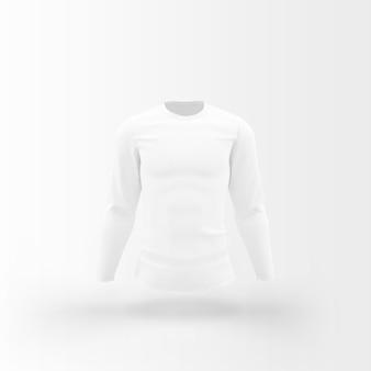 Weißes t-shirt, das auf weiß schwimmt Kostenlosen PSD