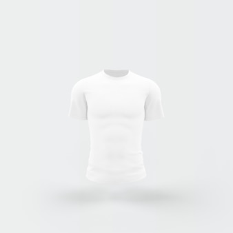 Weißes t-shirt, das auf weiß schwimmt