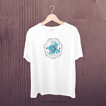 Weißes t-shirt front mockup