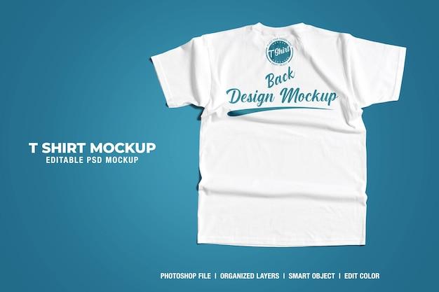 Weißes t-shirt mockup rückseite Premium PSD