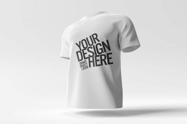 Weißes t-shirt modell