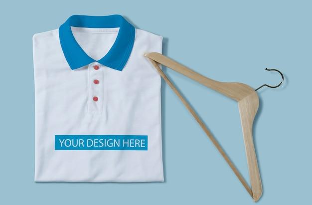 Weißes t-shirt modelldesign