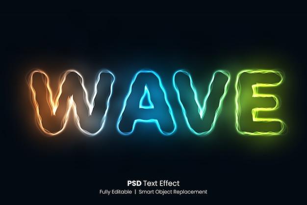 Wellen-entwurfs-glühender text-effekt