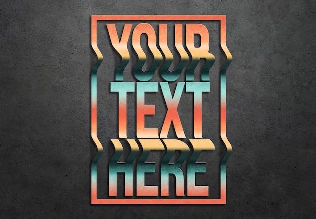 Welliger texteffekt