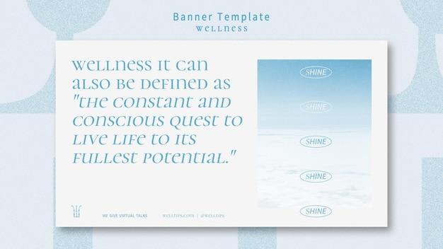 Wellness-banner-vorlage mit foto