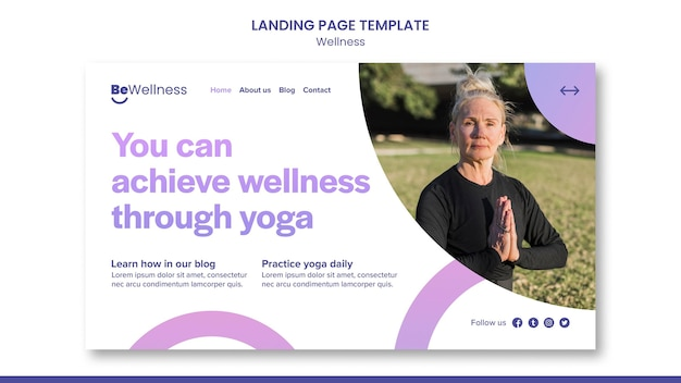Wellness durch yoga-landingpage