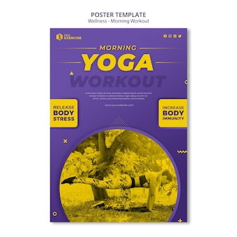 Wellness morgen workout poster vorlage