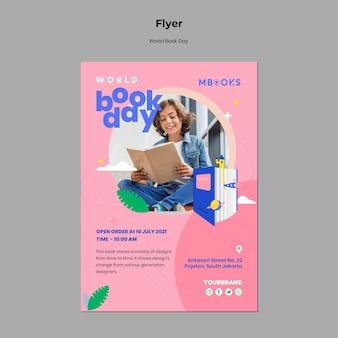 Weltbuch tag flyer vorlage