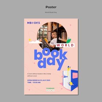 Weltbuch tag poster vorlage