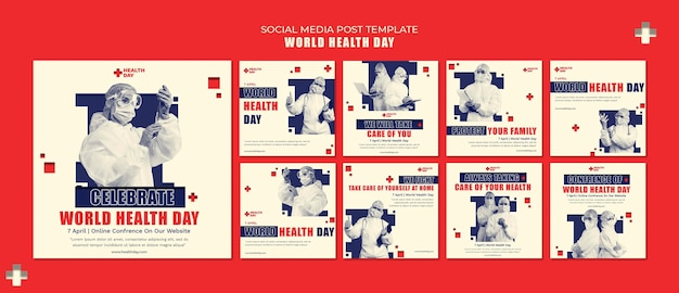 Weltgesundheitstag instagram beiträge gesetzt Kostenlosen PSD