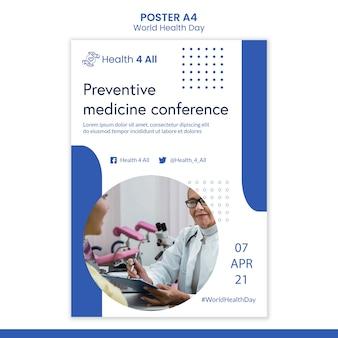 Weltgesundheitstag-plakat