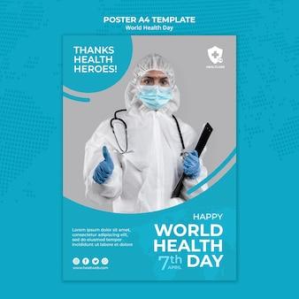 Weltgesundheitstag-plakatschablone