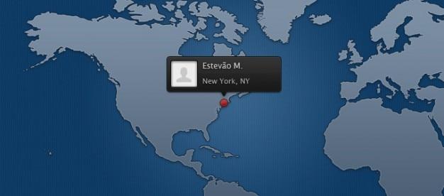 Weltkarte vorlage mit avatar