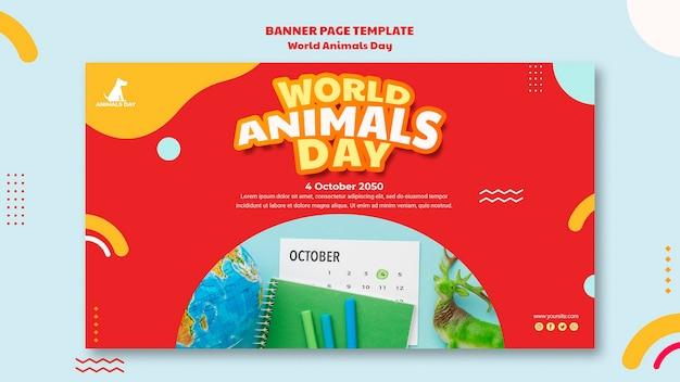 Welttier tag banner vorlage