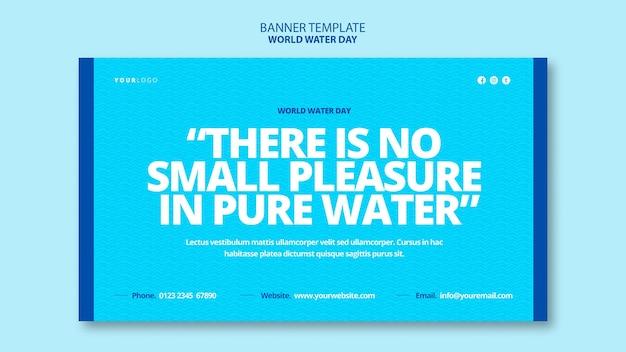Weltwassertag banner vorlage