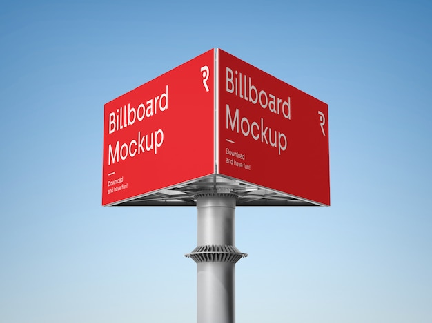Werbe billboard mockup