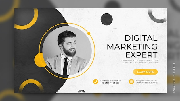 Werbebanner für geschäftslösungen für kreative marketingagenturen social media facebook-cover-design