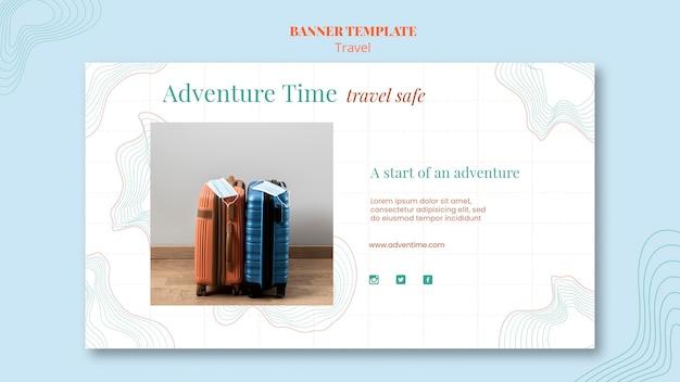 Werbebanner-vorlage des reisebüros