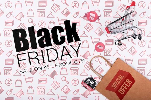Werbekampagne für den schwarzen freitag