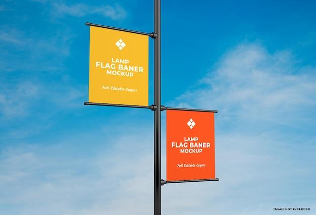 Werbelampe banner flaggenmodell design