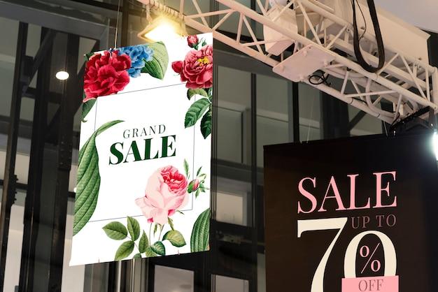 Werbeplakat-modellvorlage für marketing-anzeigen