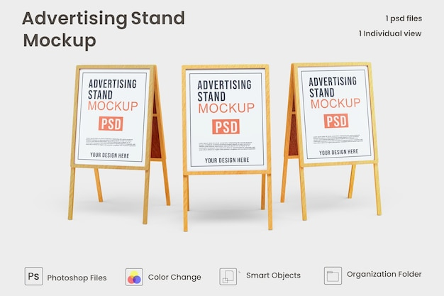 Werbestand banner mockup design premium psd