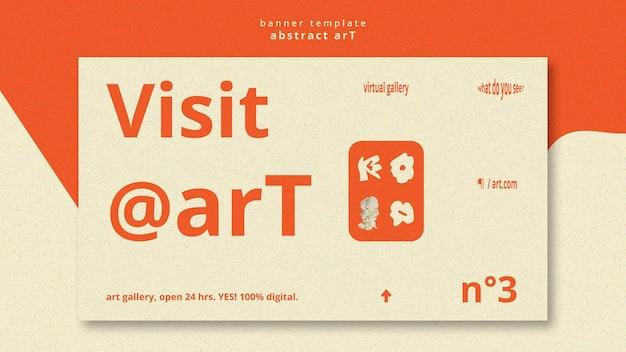 Werbevorlage-banner der abstrakten kunst