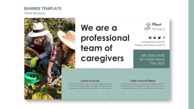 Werbevorlage für bannerpflanzengärtnereien