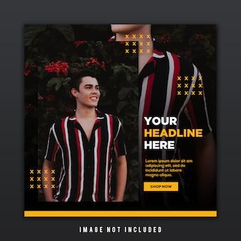 Werbevorlage für modekollektion