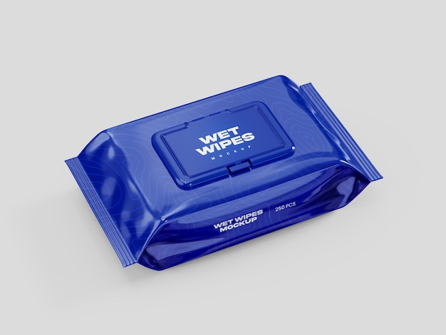 Wet wipes mockup