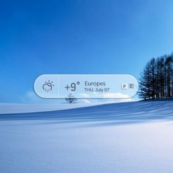 Wetter-app design psd