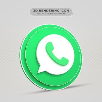 Whatsapp 3d gerendertes symbol