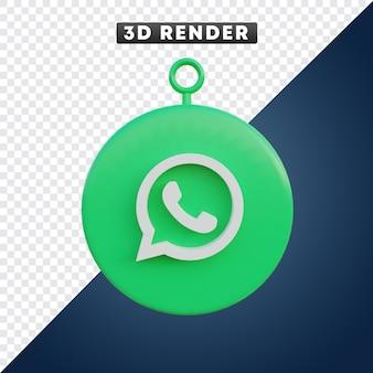 Whatsapp-app-social-media-symbol 3d-objekt