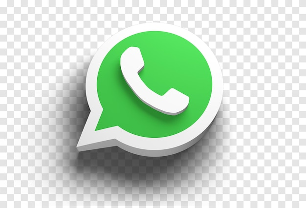 Whatsapp-symbol 3d rendern