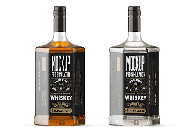 Whisky bottle mockup