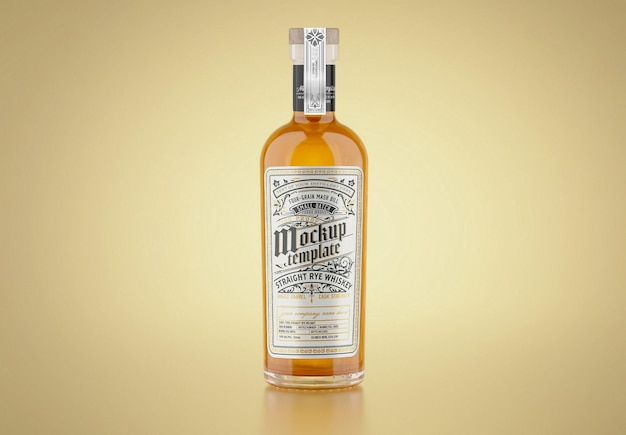 Whisky glasflasche mockup
