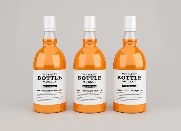 Whiskyflaschenmodell isoliert