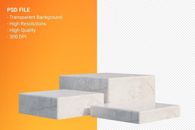 White marble podium minimal isoliert für kosmetische produktpräsentation