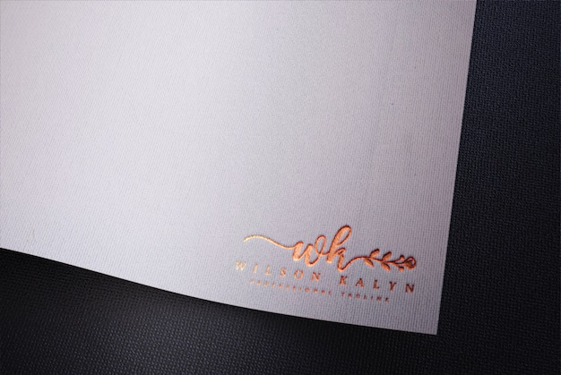 White paper logo mockup