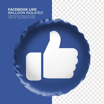 Wie facebook ballon 3d