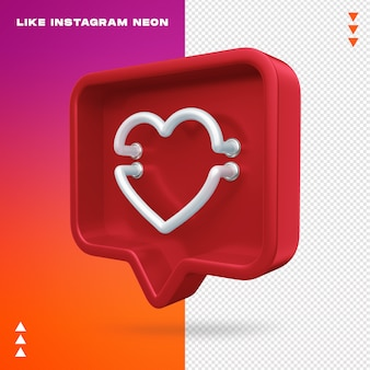 Wie instagram neon isolated